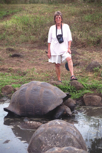 Me, with a Galapagos Giant Tortoise