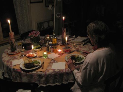 Earth Hour dinner
