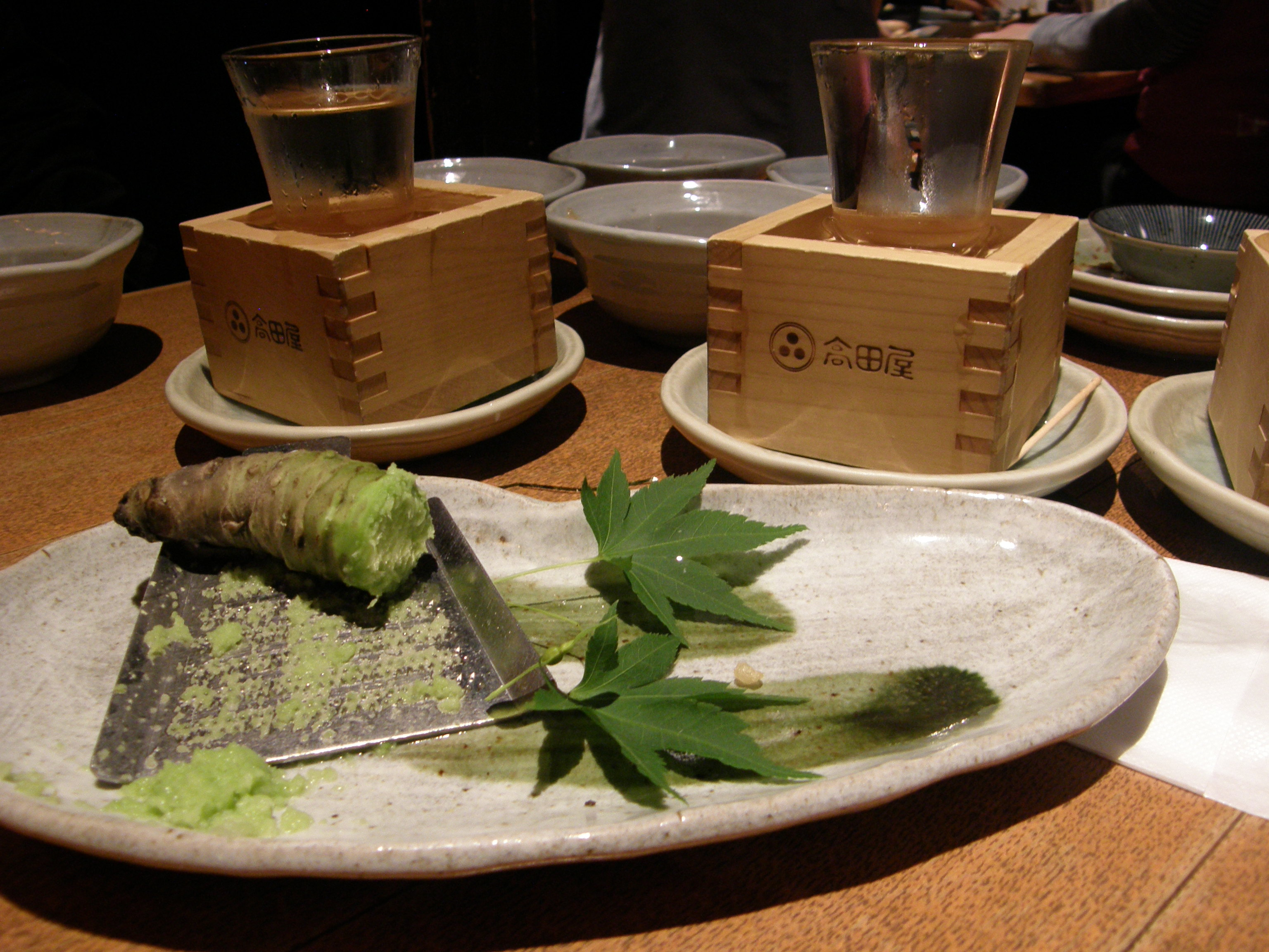 World spices wasabi around and about with viv for Raw fish food poisoning
