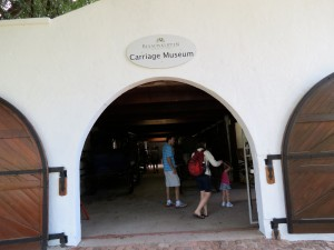 Entrance to the small, but interesting, Carriage Museum