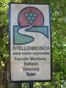 A Stellenbosch Wine Route sign