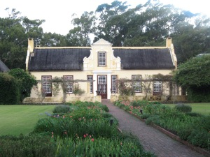 Vergelegen Estate has lovely buildings in the Cape-Dutch architecture style