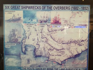 Information board detailing some of the wrecks