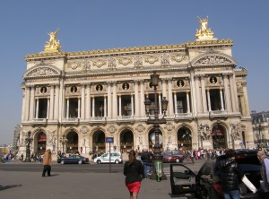 The exterior of the Opera is always surrounded by crowds of eager visitors