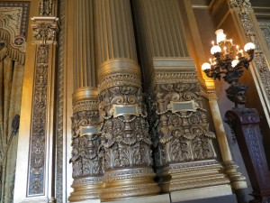 Amazing details on a pillar----they are all ornately decorated
