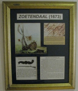 Board about the Zoetendaal shipwreck
