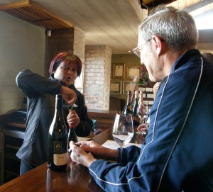 Audrey explains the wines at our recent tasting