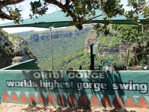 Supposedly the world's highest gorge swing!