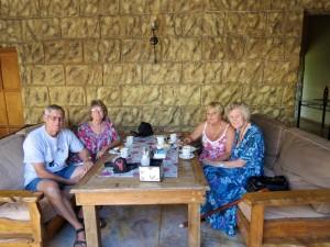 Rod, Viv, Veronita, granny Joy----al very happy with the morning tea