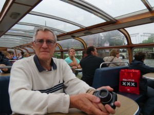 Rod in the glass-roofed boat