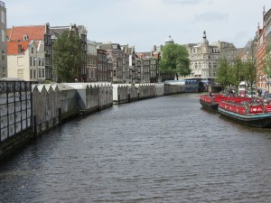 Amsterdam's Flower Market lines the Singel Canal