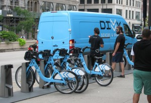 The Divvy truck shows its logo as 'Divide and share'