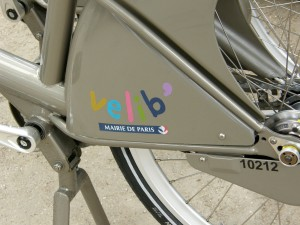 The colorful Velib logo (for Velo libre)