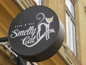 Sign for the Smelly Cat
