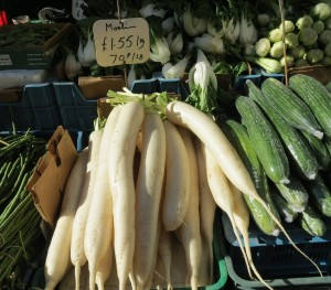 """Mooli"" in Croydon, known as ""Daikon"" in USA and Japan"