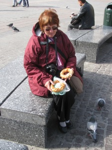 I don't feed the pigeons, but lots of people do