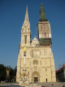 Zagreb's imposing main cathedral