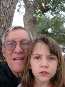 Rod capturing himself and grand-daughter in Winter Park, FL