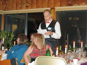 Steve L recites a very amusing poem about what is a haggis and how you catch it!