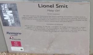 """The descriptive plaque for """"Malay Girl"""""""