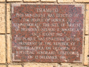 Original plaque, erected in 1996