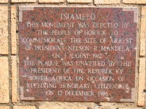Original plaque, erected in 1996