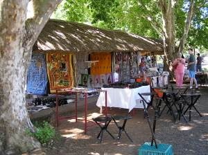 Some of the craft stalls in Howick