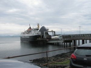 Our ferry arrives and a string of vehicles drive off