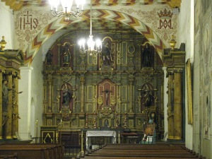 Gorgeous main altar in the old Chapel