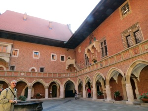 The lovely courtyard of Collegium Maius, oldest building of the university