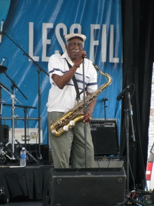 Eddie Shaw plays and sings---very talented