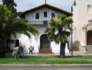 The original Dolores Mission, right next to….