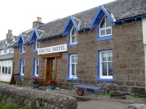 On that street is the Argyll Hotel
