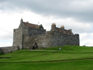 Duart Castle on the isolated headland---the view from the castle tearoom