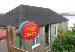 The view from the hotel tearoom window---the Iona post office