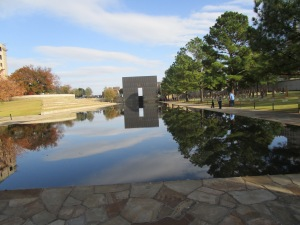 Looking from Gate 9:01 across the Reflecting Pool to Gate 9:03