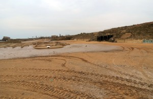 Ruins of the hippodrome today, unfortunately recently flooded by the Mediterranean