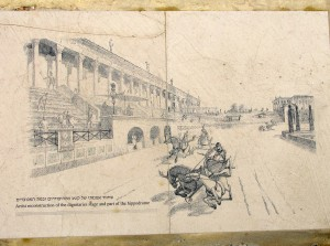 Artist's sketch of the hippodrome in Roman times