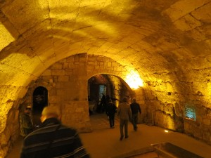 One of the large vaulted passage ways below today's Plaza and city streets