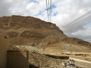 Looking up to Masada