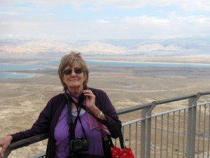 Viv M, Dead Sea in the distance
