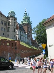 Approach to Wawel Castle Hill