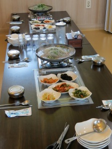 Table settings for a wonderful bulgogi meal