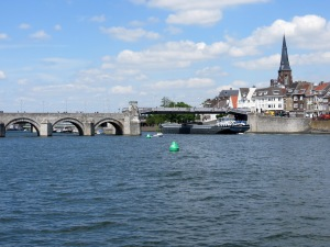 Meuse River and St Servaas Bridge