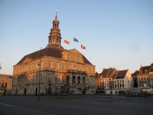The Markt and Stadhuis in evening light