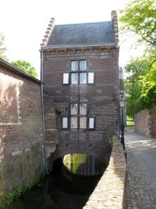 House built over the Jeker River
