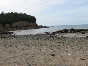 Part of the 'beach'---you can see people looking for stones