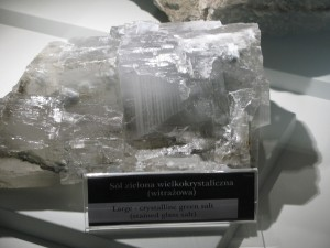 Huge rock salt crystal from Wieliczska Mine