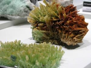 Green rock salt crystals from Wieliczska
