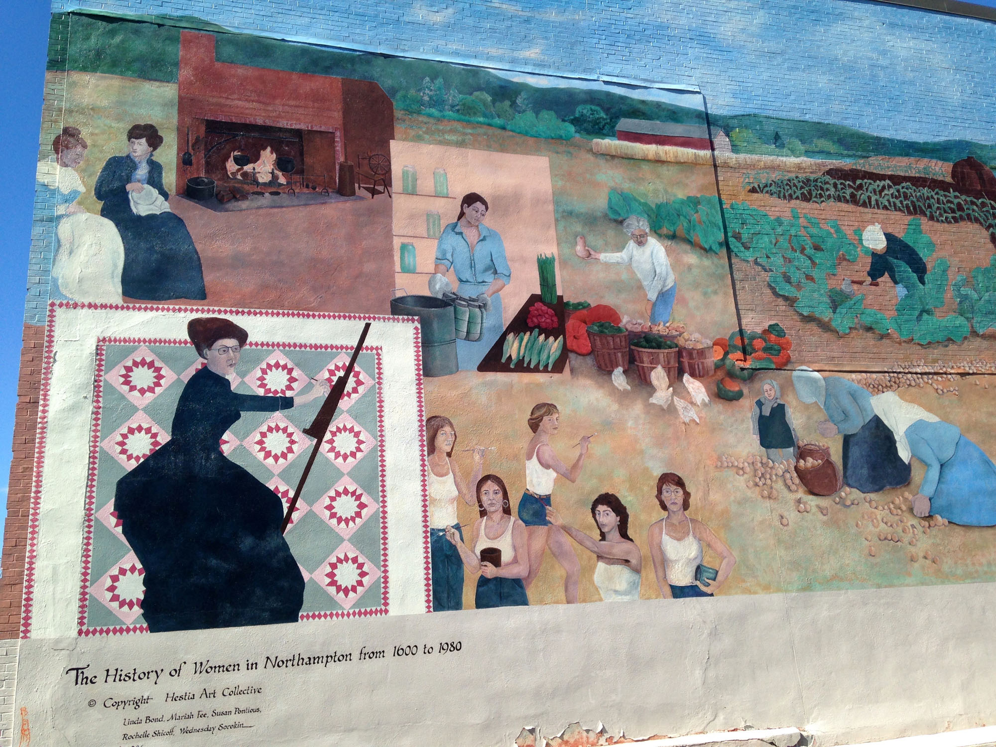 Women s history mural in massachusetts around and about for Mural history